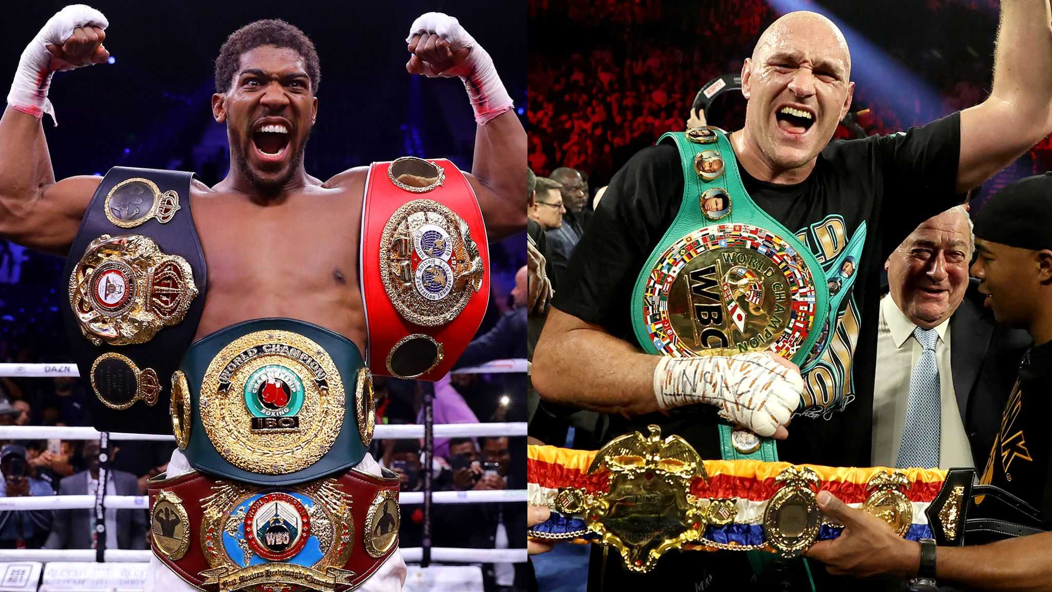 Oscar De La Hoya ifrågasätter Anthony Joshua's Heart and Chin - Favors Tyson Fury to Win